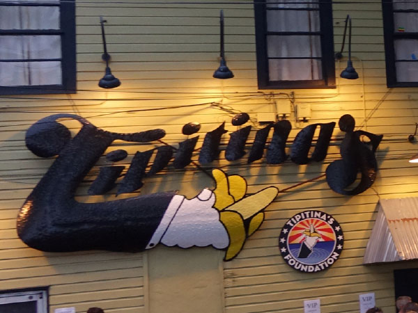 Out front of Tipitina's Foundation.