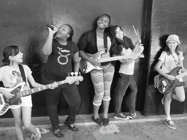 This band of girls really rock.